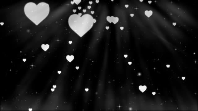 Valentin fond noir