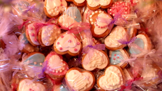 valentines day cookies - valentines background stock videos & royalty-free footage