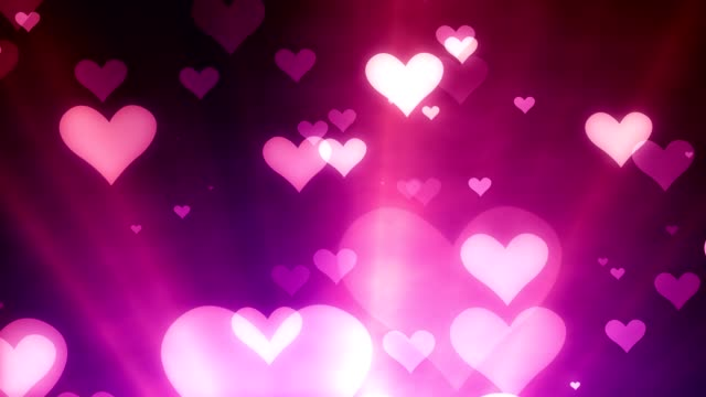 valentine´s day floating hearts - levitation stock videos & royalty-free footage