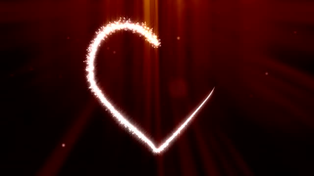 Valentine's Day Sparks Growing Heart Shape