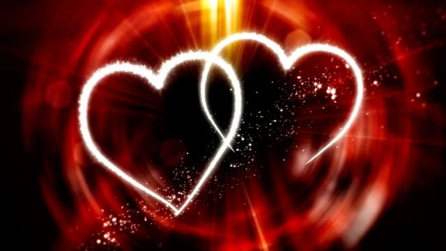 Valentine's Day Twin Hearts Flourish Animation