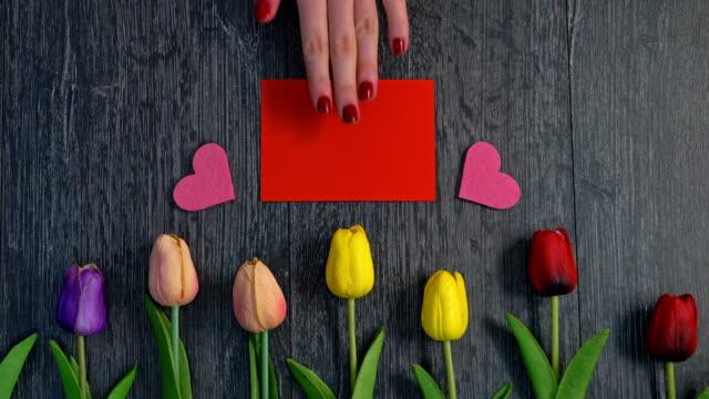 vídeos y material grabado en eventos de stock de día de san valentín - tarjeta del día de san valentín