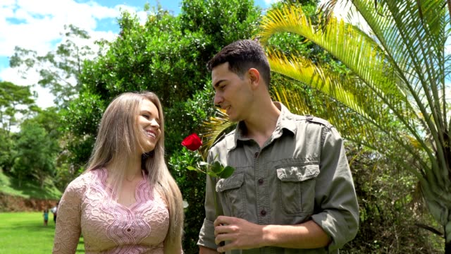 valentine's day - teenage couple stock videos & royalty-free footage