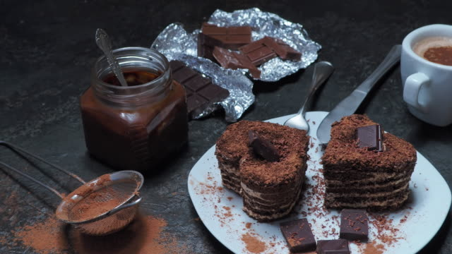 valentine's day - cocoa powder stock videos & royalty-free footage