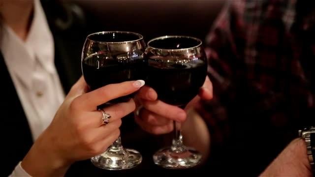 valentines,s day  celebration ,toasting with wine - meal stock videos & royalty-free footage