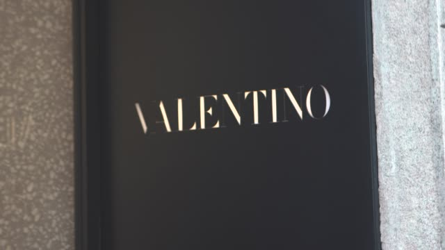 valentino at milan general views on february 17, 2019 in milan, italy. - valentino designer label stock videos & royalty-free footage