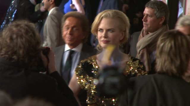 valentino garavani and nicole kidman at the 'australia' premiere at new york ny. - valentino designer label stock videos & royalty-free footage