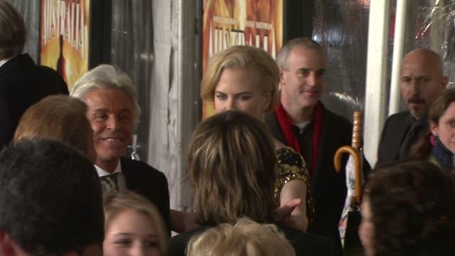 Valentino Garavani and Nicole Kidman at the 'Australia' premiere at New York NY
