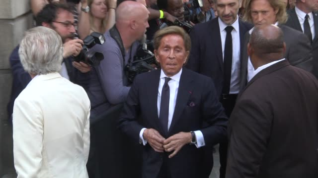 Valentino Garavani arrives at the Valentino Haute Couture Fall Winter 2018/2019 show as part of Paris Fashion Week on July 4 2018 in Paris France