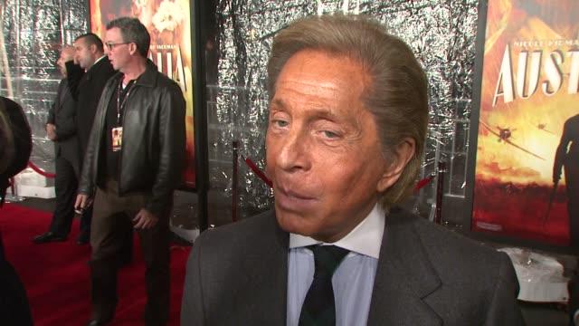 Valentino Garavani at the 'Australia' premiere at New York NY