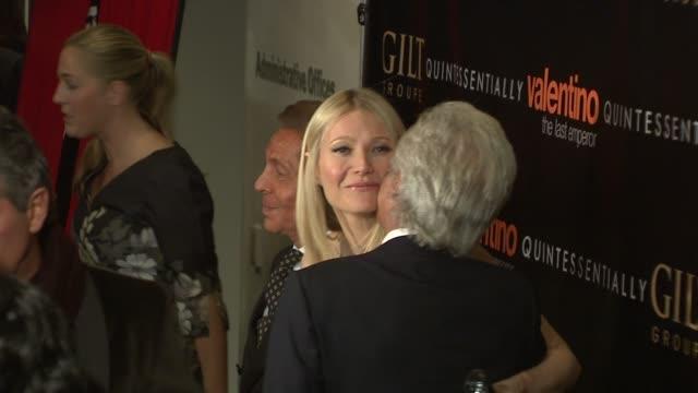Valentino Garavani Gwyneth Paltrow and Giancarlo Giammetti at the Valentino The Last Emperor Premiere at New York NY