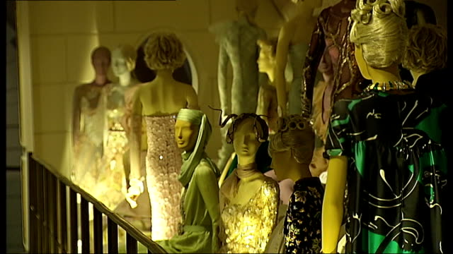'Valentino Master of Couture' exhibition at Somerset House ENGLAND London Somerset House INT General views of mannequins wearing outfits designed by...
