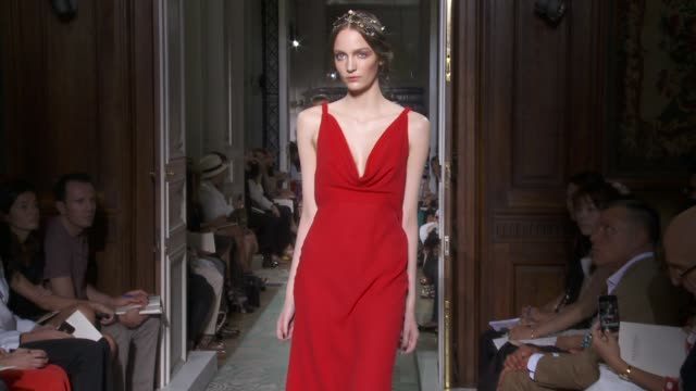 paris fashion week haute couture f/w 2011/2012 on july 06, 2011 in paris, france - valentino designer label stock videos & royalty-free footage