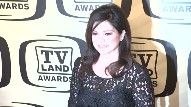 valerie bertinelli at tv land awards 10th anniversary arrivals at lexington avenue armory on april 14 2012 in new york ny - tv land awards stock videos and b-roll footage