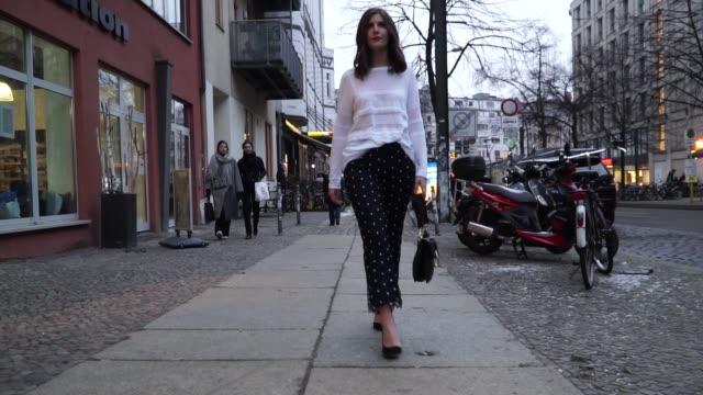 Valerie Husemann is wearing a black JW Anderson bag Laurel top and pants on January 17 2017 in Berlin Germany