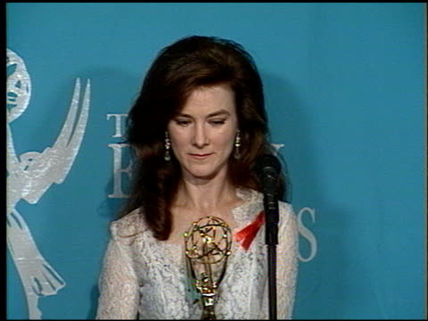 valerie mahaffey at the 1992 emmy awards at the pasadena civic auditorium in pasadena california on september 1 1992 - pasadena civic auditorium stock videos & royalty-free footage