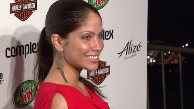 stockvideo's en b-roll-footage met valerie ortiz at the 5th anniversary of complex magazine hosted by travis barker at area in west hollywood california on april 10 2007 - travis barker