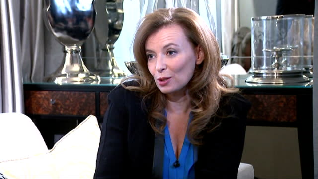 valerie trierweiler memoir; trierweiler interview sot - on whether the french president should be entitled to privacy / on her lack of popularity in... - françois hollande stock videos & royalty-free footage