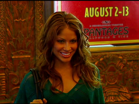 Valery Ortiz at the Los Angeles Opening of 'Little Women' at Pantages Theater in Hollywood California on August 2 2006