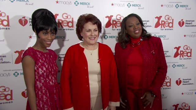 Valisia LeKae Judy Kaye Star Jones at the American Heart Association Go Red For Women 10th Year Celebration on in New York NY