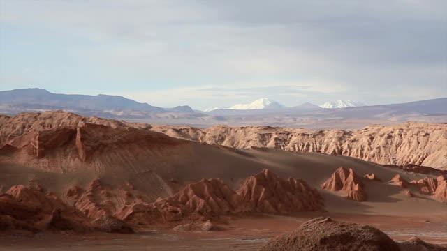 Valle della Luna, la Luna Valle paesaggio deserto di Atacama, Cile