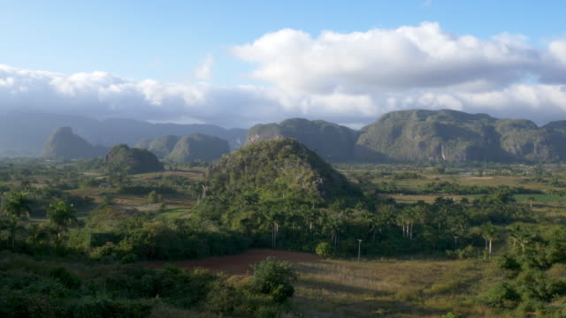 valle de vinales, high angle view at sunset - cuba stock videos & royalty-free footage