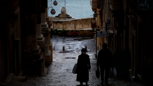 valletta city in malta - valletta stock videos & royalty-free footage