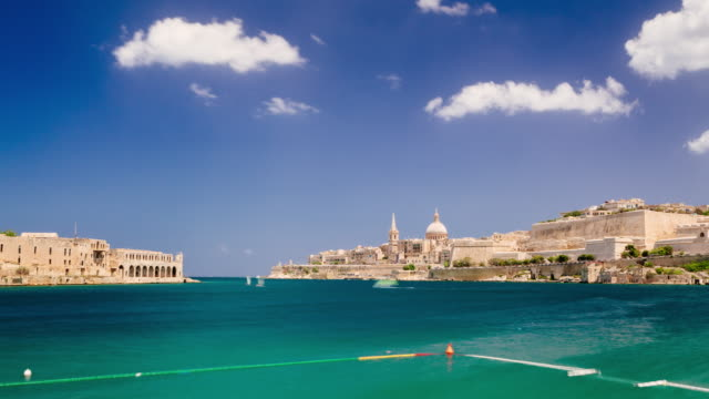 valletta, malta timelapse - valletta stock videos & royalty-free footage
