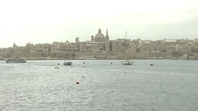 valletta, the capital city of malta - valletta stock videos & royalty-free footage