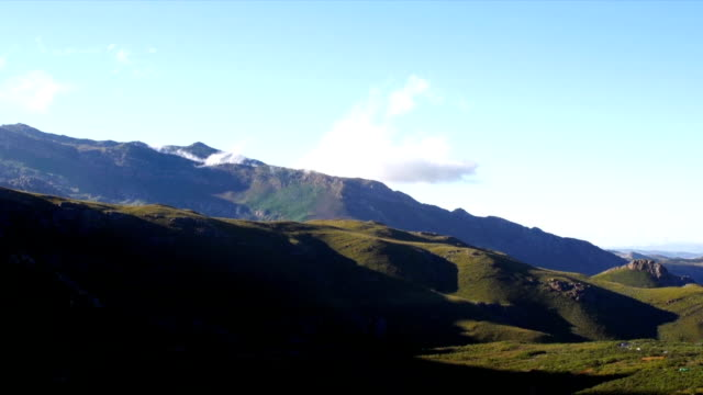 ws valley and  blue sky / mont rochelle nature reserve/ franschhoek/ western cape/ south africa - franschhoek stock videos and b-roll footage