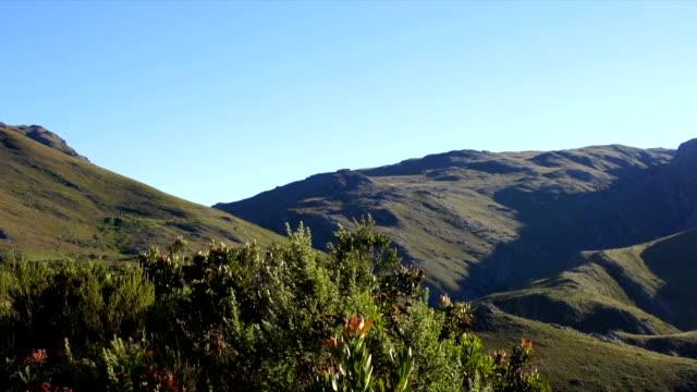 vídeos y material grabado en eventos de stock de ws ms zi valley and  blue sky / mont rochelle nature reserve/ franschhoek/ western cape/ south africa - cabo winelands