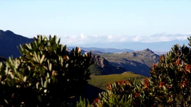 vídeos y material grabado en eventos de stock de ws zo valley and  blue sky / mont rochelle nature reserve/ franschhoek/ western cape/ south africa - cabo winelands
