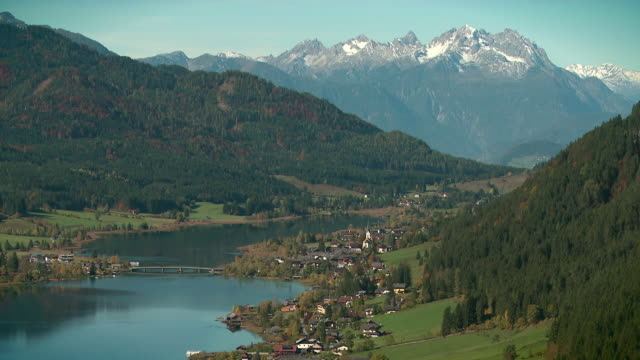 valley at weissensee - carinthia (gailtal alps) - carinthia stock videos & royalty-free footage