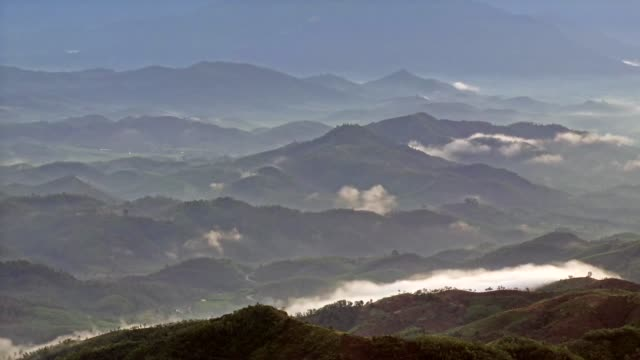 valley in sunlight and mist - vietnam stock videos & royalty-free footage