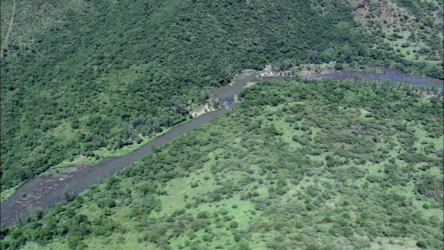 valley of a 1000 hills around nagle dam  - aerial view - kwazulu-natal,  umgungundlovu district municipality,  umshwathi,  south africa - circa 11th century stock videos and b-roll footage