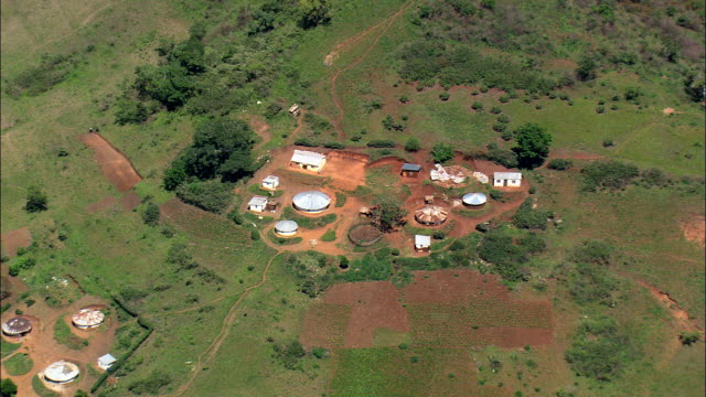 valley of a 1000 hills near ngcolosi  - aerial view - kwazulu-natal,  ilembe district municipality,  ndwedwe,  south africa - circa 11th century stock videos and b-roll footage