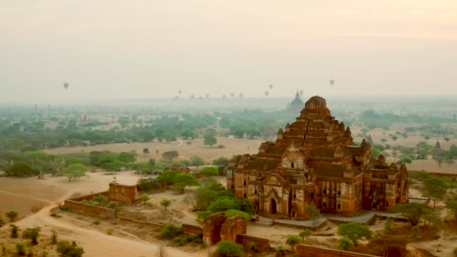 valley of ancient temples - bagan stock videos & royalty-free footage