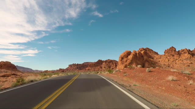 valley of fire - road trip in the united states - nevada stock videos & royalty-free footage