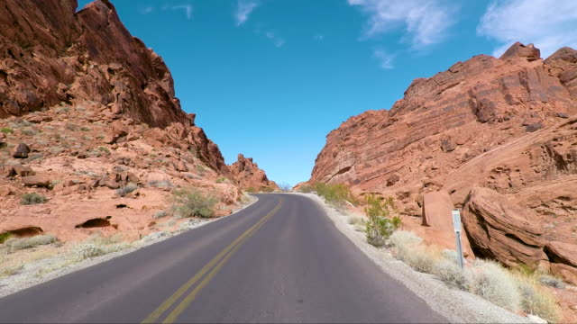 valley of fire - road trip in the united states - state park stock videos & royalty-free footage