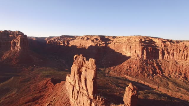 """valley of the gods"" spire orbit rigth to left, utah, aerial, 4k, 34s, 27of32, stock video sale - drone discoveries - drone aerial view - red rocks stock videos and b-roll footage"