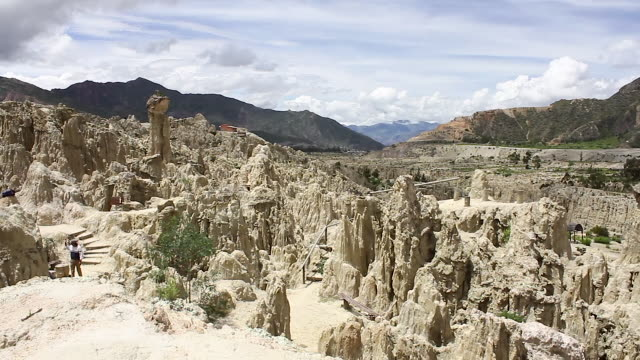 valley of the moon/ la paz, bolivia - latin american civilizations stock videos and b-roll footage