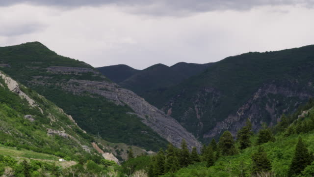 valleys and mountainsides of provo canyon, utah. - provo stock videos & royalty-free footage