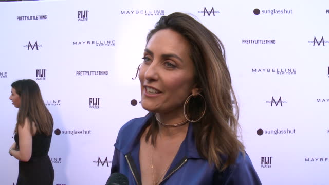 vídeos de stock, filmes e b-roll de interview valérie messika on being honored at the daily front row fashion los angeles awards 2019 in los angeles ca - formato bruto