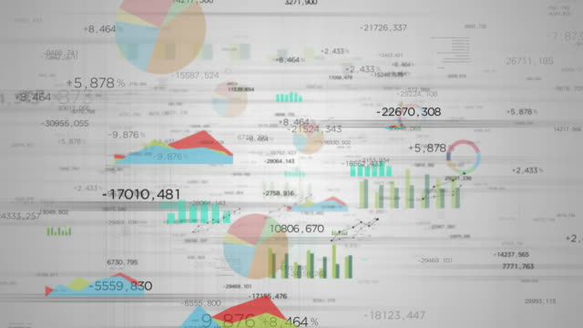valori su bianco - finanza video stock e b–roll