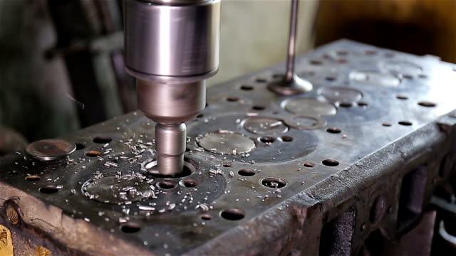 valve seat grinding machine - machine valve stock videos and b-roll footage