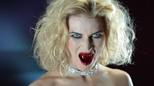 vampire bleeding from mouth - necklace stock videos & royalty-free footage