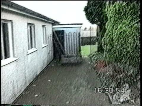Vampire obsessed teenager guilty of murdering pensioner POLICE Towards back door of Mabel Leyshon's house Dustbin lid propped against back door of...