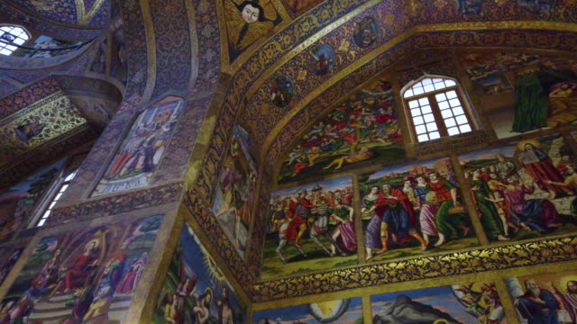 van cathedral - holy savior cathedral, isfahan, iran, western asia, asia, middle east - persepoli video stock e b–roll