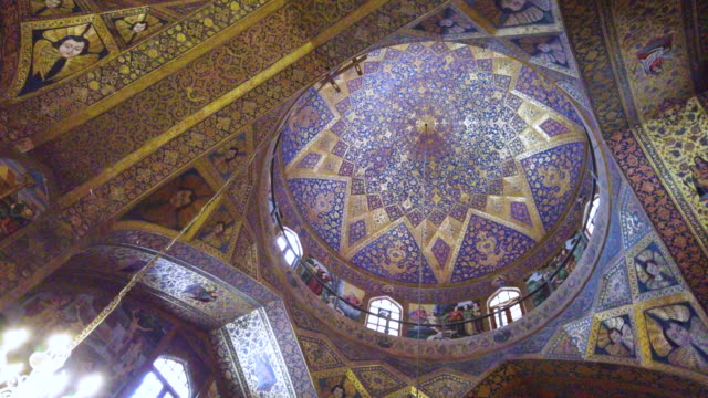 van cathedral - holy savior cathedral, isfahan, iran, western asia, asia, middle east - palace stock videos & royalty-free footage