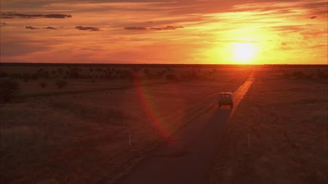 WS Van passing through desert road